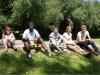 Warten vor der Sommerrodelbahn