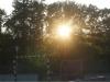 Sonnenuntergang am Zeltplatz