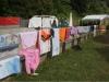 improvisierter Wäscheständer